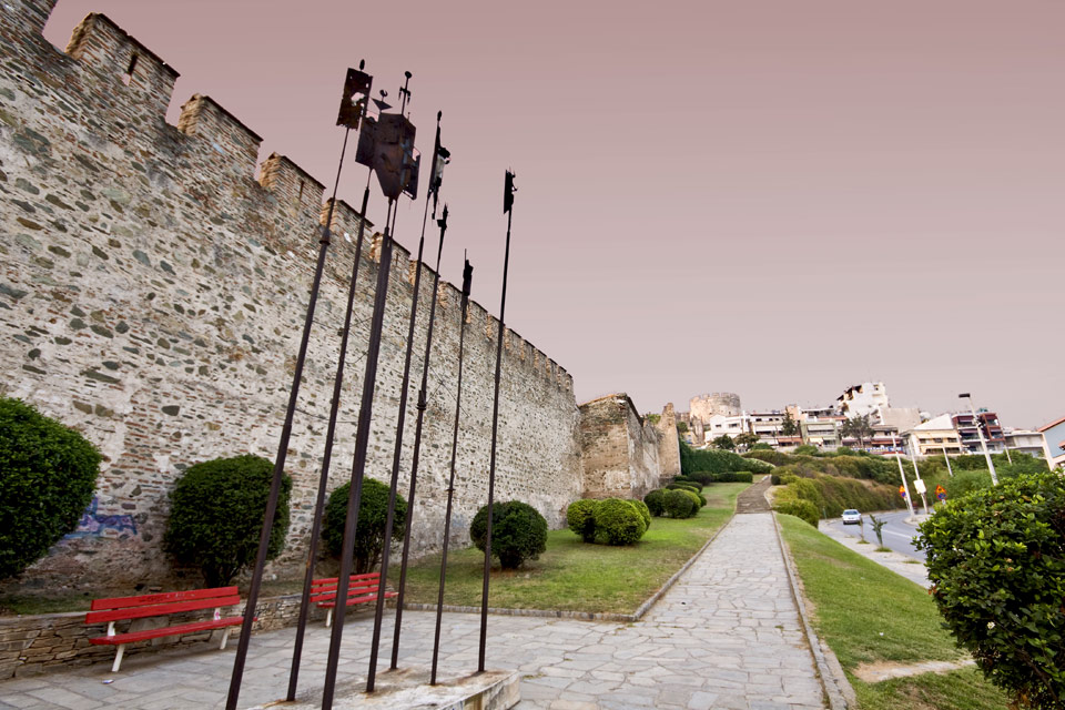 Old walls of Thessaloniki