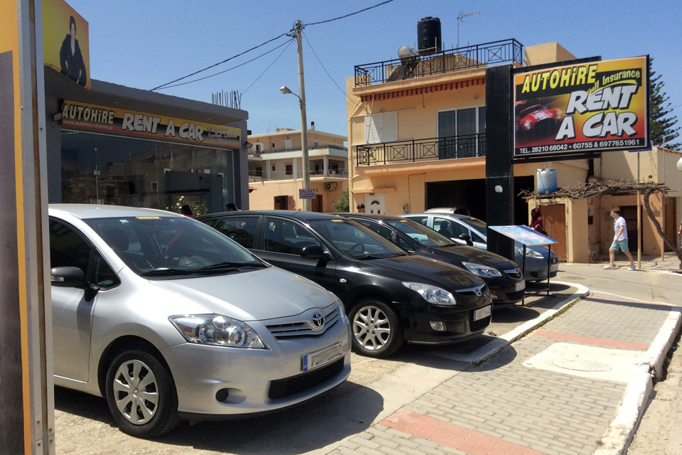 Auto Hire. Rent a car, Chania, Crete
