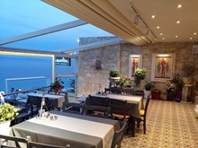 Oceanides sea food restaurant. Afytos