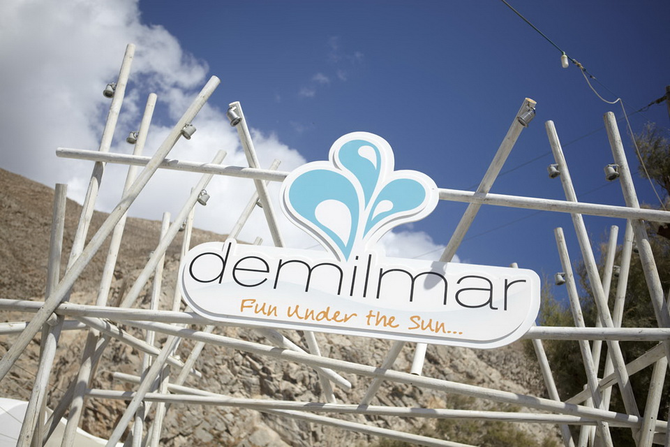 Demilmar. Beach bar - Restaurant, Santorini