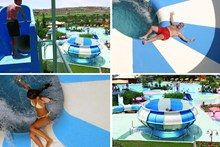 "Аттракцион ""Space Bowl"". Acqua Plus Waterpark. Аквапарк, Крит"