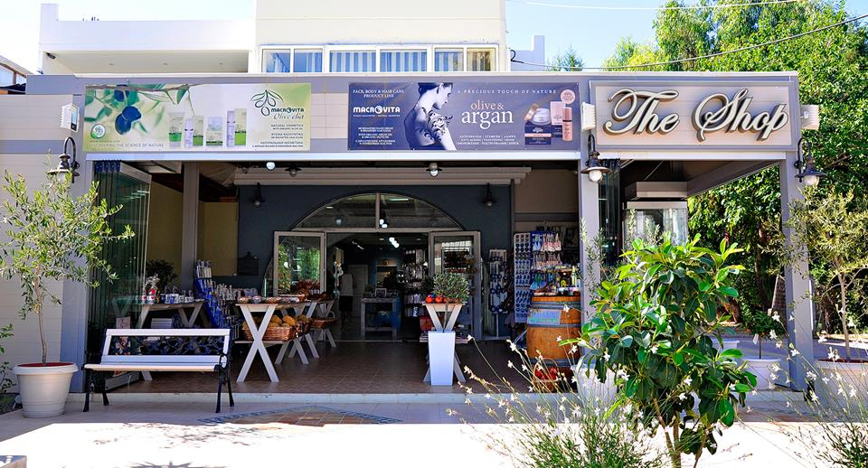 The shop. Traditional products, cosmetics, souvenir. Rhodes