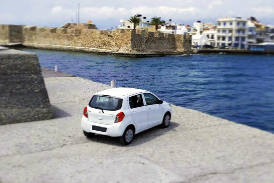 Drive Now. Car rental, Crete