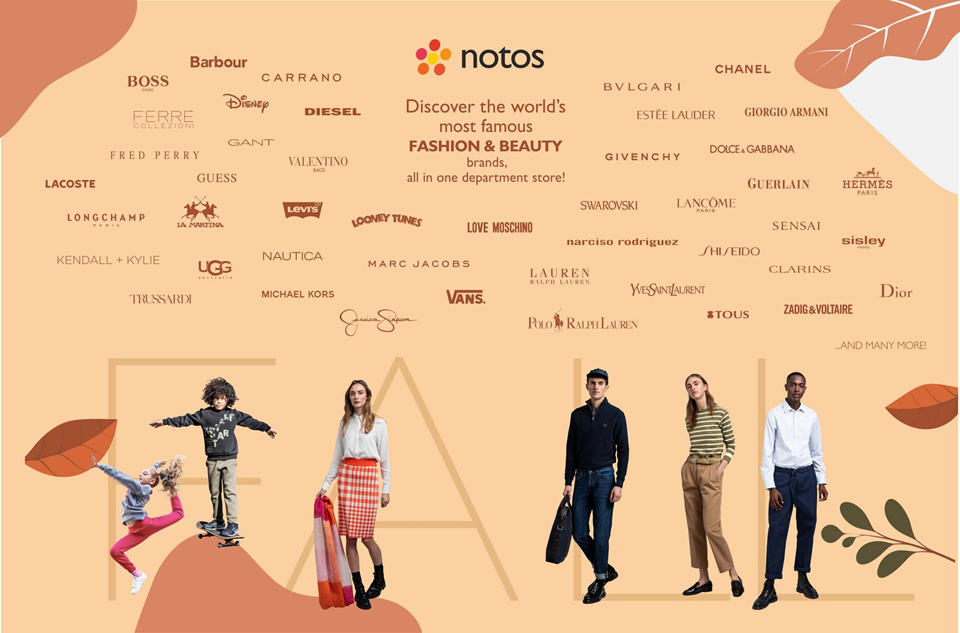 notos departments stores. New collection fall 2020)