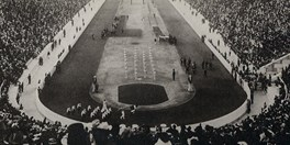 The 1896 Olympics at Athens Airport