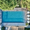 Aerial view infinity pool