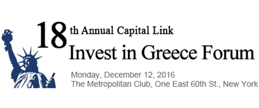 18th Annual Capital Link Invest in Greece Forum