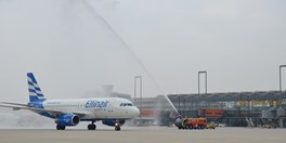 Ellinair's Maiden Cologne-Thessaloniki Flight Earns Water Salute