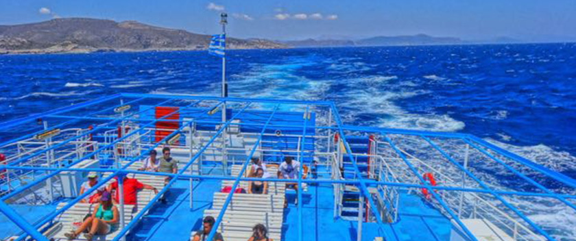 Greek ferry deck