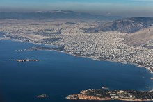 City of Athens, aerial view