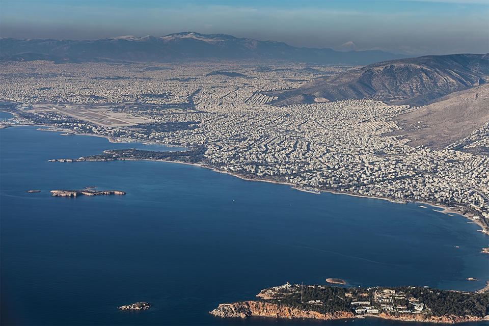 City of Athens, aerial view)