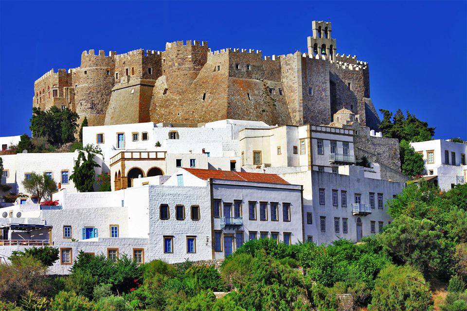 Monastery of st.John in Patmos island, Dodecanese)