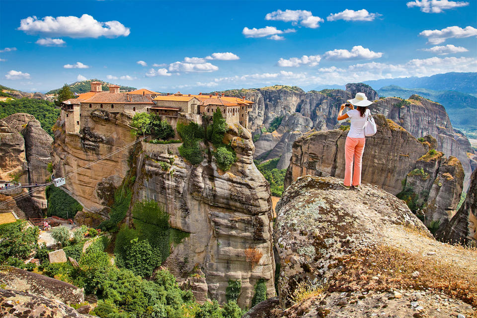 Panoramic view on Meteora)