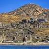 Delos Remains of ancient Sanctuary of Apollo above Kynthos hill