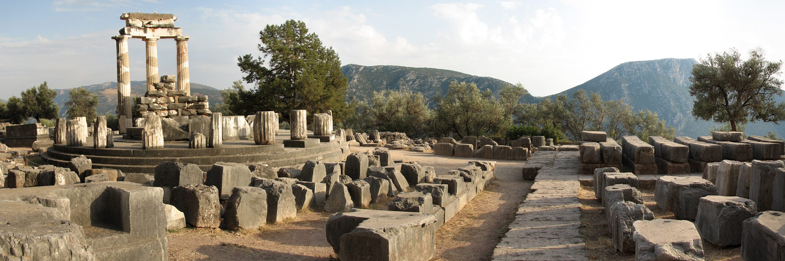 Athena Temple Panorama In Delphi