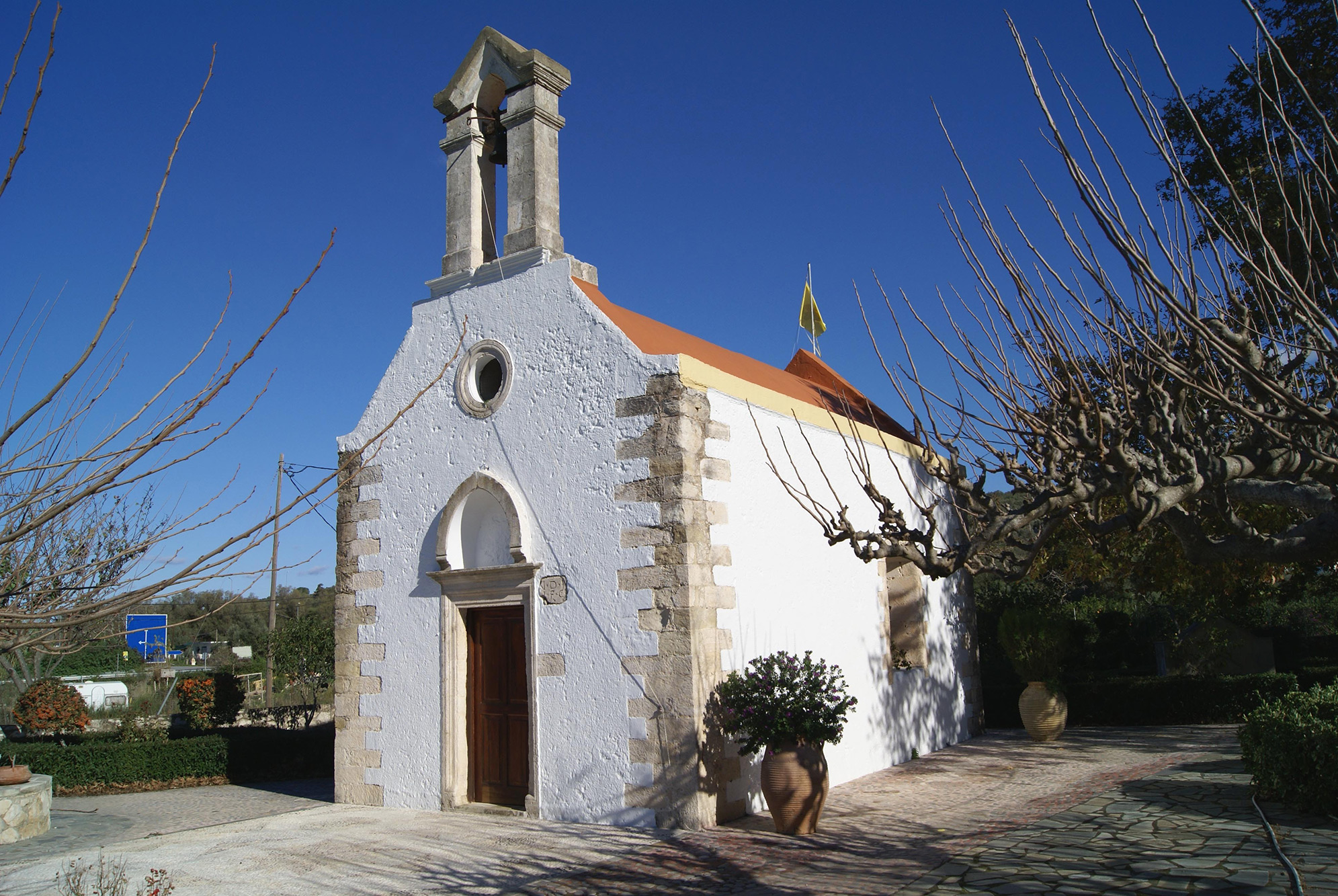 The Quiet Relative Unspoiled Village Of Kalyves Small Shelters Is 20 Km West Chania On North Coast Crete But South Side Souda Bay