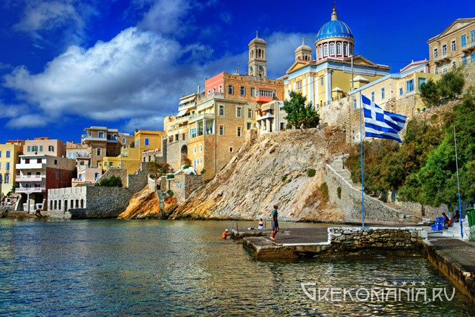 Greek island Syros