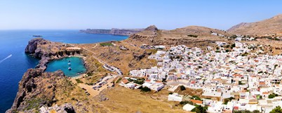 Lindos, panoramic view