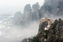 Meteora Monasteries Winter