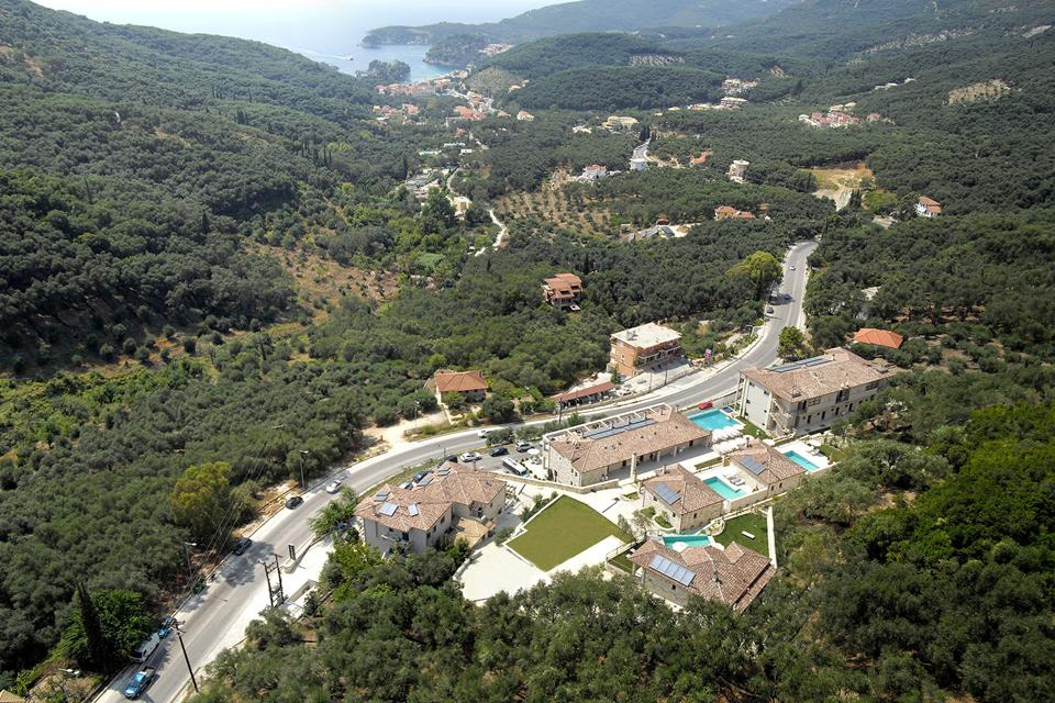 Panoramic view. Salvator Villas & Spa Hotel. Parga)