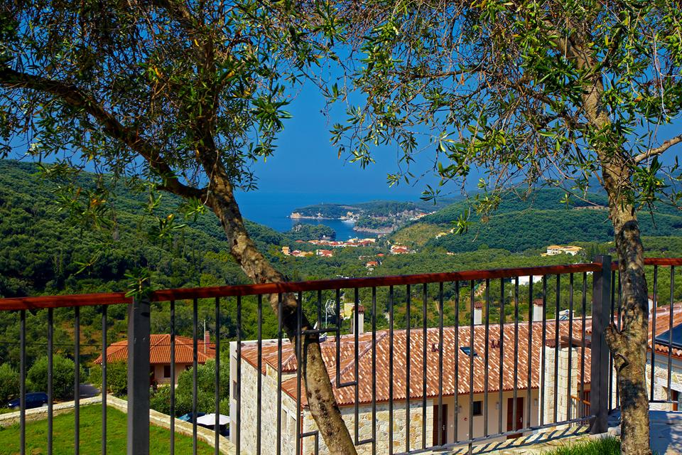 View from villa. Salvator Villas & Spa Hotel. Parga)